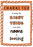 Poster Character personality trait value