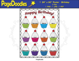 Class Birthdays Poster - High Quality Vector Graphics