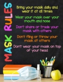 Poster: Classroom Face Mask Rules