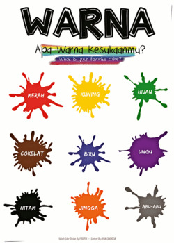 Poster : Colors in Indonesian (Warna)