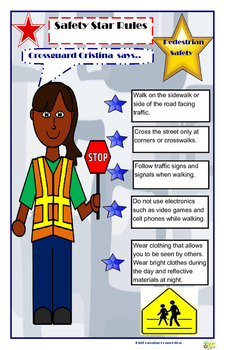 Poster:  Community Helper Pedestrian Safety Rules