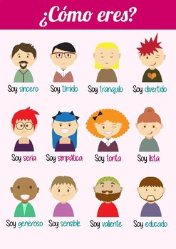 Poster - Cómo eres (personality traits)