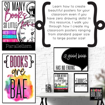 Poster Design Class: How to make posters for your classroom