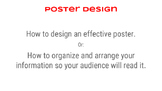 Poster Design, Demo