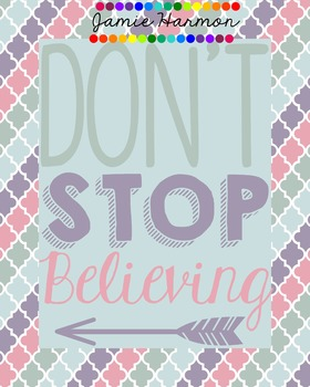 Poster: Don't Stop Believing