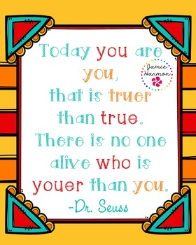 Poster: Dr. Seuss' Youer than You
