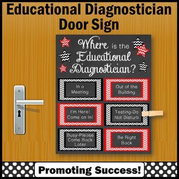 Educational Diagnostician Office Door Sign