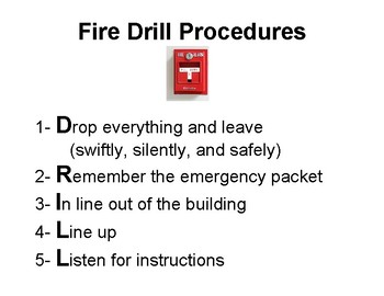 Poster - Fire Drill Procedures