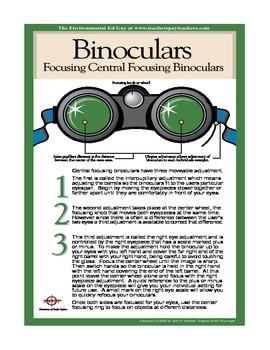 POSTER  Focusing Central Focusing Binoculars