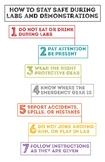 Poster - How to Stay Safe During Labs and Demonstrations (