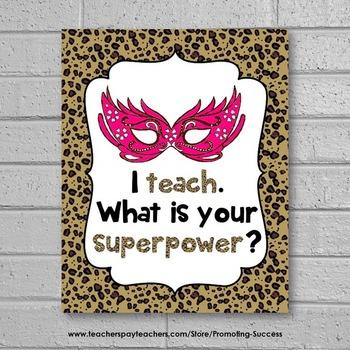 Teacher Gift, I Teacher Whats Your Superpower, Teacher Appreciation Week