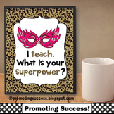 Leopard Print Classroom Decor, Superpower Theme, Printable Quote Poster