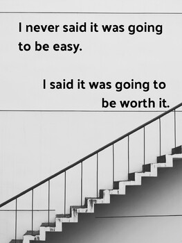 Poster - I never said it was going to be easy.