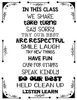 Poster Freebie: {In This Class} Motivating Words for Students & Teachers