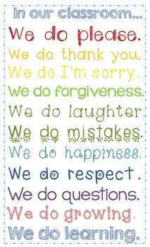 Poster {In our classroom...}