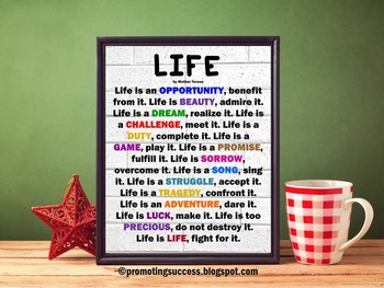 Mother Teresa Quote About Life Poster Classroom Decor