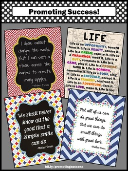Printable Classroom Posters, Mother Teresa Quotes Back to School Classroom Decor