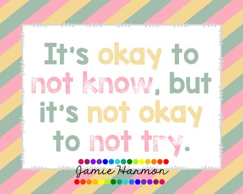 Poster: It's Okay To Not Know