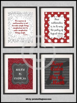 Math Posters, End of the Year Teacher Appreciation Week Gift Ideas