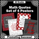 Keep Calm and Do Math Posters, Red and Black Classroom Decor, Teacher Gift