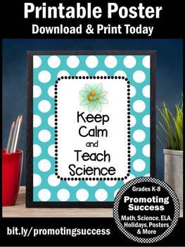 Keep Calm and Teach Science Teacher Appreciation Week Gift Idea Poster