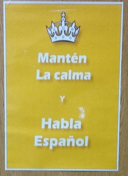 Poster - Keep calm and Speak Spanish