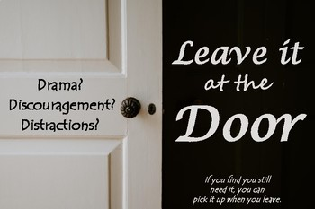 Poster - Leave it at the Door