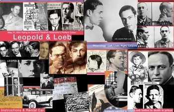 Leopold & Loeb Murder Law Case FREE POSTER Clarence Darrow 1924