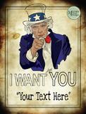 Poster - Motivational DIY - Patriotic Uncle Sam {Messare Clips and Design}
