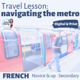 Poster, Map & Task Cards for the Metro / Subway - French Travel Lesson for INB