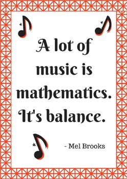 "Poster - Math Quote ""Math is Music"""