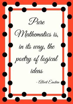 Poster - Math is Poetry - Albert Einstein