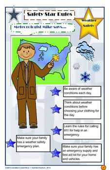Poster:  Weather Safety Rules