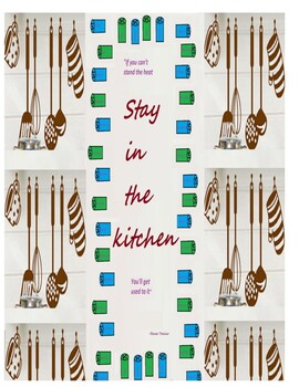 """Poster- Motivational Quote- """"Stay in the kitchen"""""""