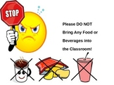 Poster- No Food or Beverages in the Classroom