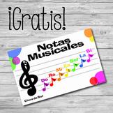 Poster Notas Musicales en Clave de Sol