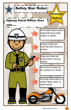 Poster: Community Helper Teaches Passenger Safety