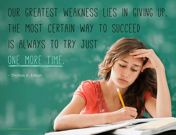 """FREE Poster: """"Our Greatest Weakness Lies in Giving Up. The"""