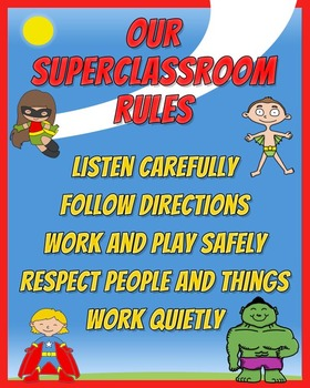 Editable Poster: Our Superclassroom Rules