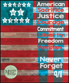 Poster Patriot Day September 11th - never forget {Messare