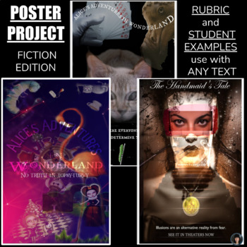 Poster Project: FICTION EDITION rubric, examples, instructions, tips, and more