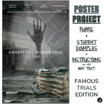 Poster Project: FAMOUS TRIALS EDITION rubric, examples, instructions, and more