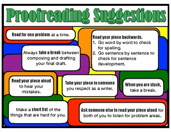 Poster - Proofreading Suggestions