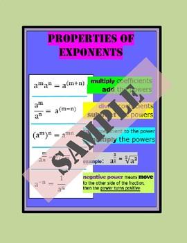 Poster - Properties of Exponent