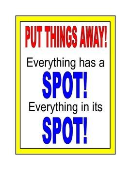 Poster: Put Things Away!