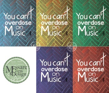 Poster Quote - You Can't Overdose on Music {Messare Clips and Design}
