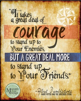 Poster Quote about Courage from Harry Potter {Messare Clip