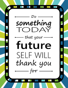 Poster Quotes Bundle | Blue/Green Starburst | School Counselor