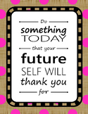 Poster Quotes Bundle | Burlap Rainbow Dots | School Counselor