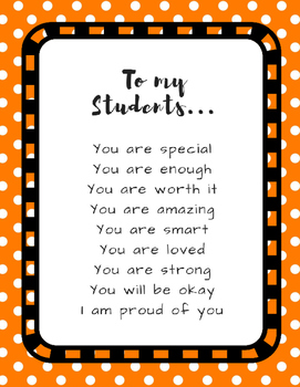 Poster Quotes Bundle | Rainbow Tiny Dots | School Counselor